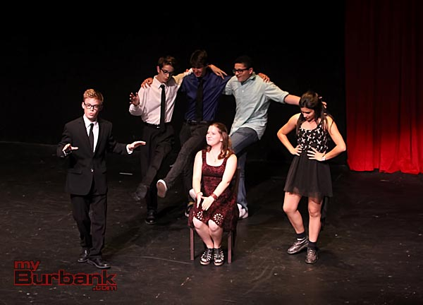 Members of the JBHS Improv Crew perform at The Colony Theatre.(Photo by Ross A. Benson)