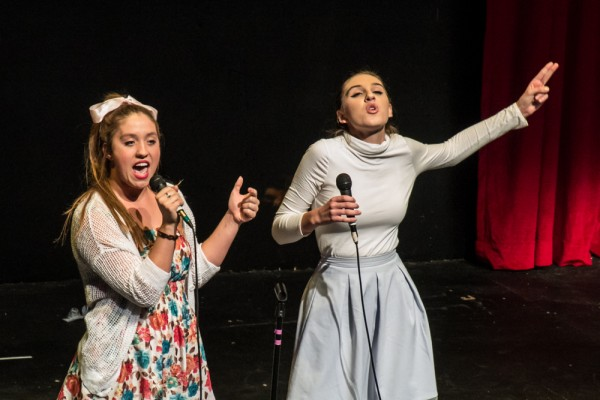"Tenley Patterson and Madison Mayer sing the tongue-in-cheek ""Secondary Characters"" from ""Title of Show."" (Photo Courtesy of Kathy Flynn)"