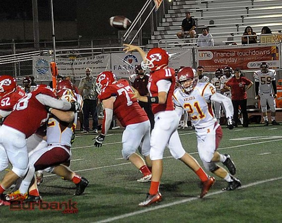 Andy Amela had a career night as the Indians pounded the Apaches (Photo by Craig Sherwood)