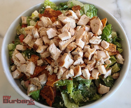 The Chopped Salad with chicken is a delicious go-to choice for lunch at Olive & Thyme. (Photo By Lisa Paredes)