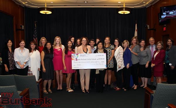 Burbank Arts For All Foundation presents funding for BUSD arts programs totaling $30, 585.40 for the Fall 2014 cycle. (Photo by Ross A. Benson)