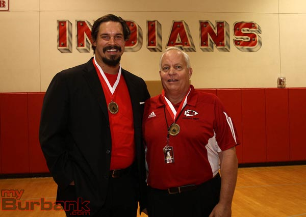 Eben Britton (left) and Jay Gudzin are this year's inductees into the JBHS Hall of Fame (Photo by Ross A. Benson)