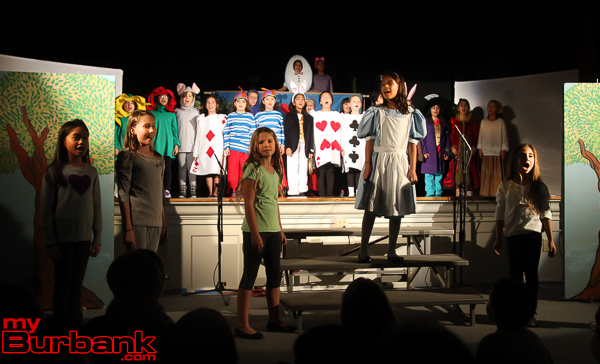 "Joaquin Miller Elementary fourth-graders present ""Alice in Wonderland."" (Photo by Ross A. Benson)"