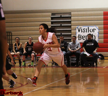 Delaney Nicol sparked the Indians with her steady play at point guard (Photo by Ross A. Benson)