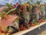 Sushi Yuzu's popular namesake roll, the Yuzu, is an explosion of textures and tastes. (Photo By Lisa Paredes)