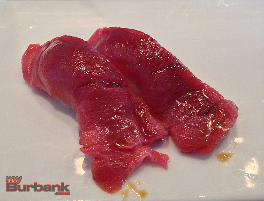 Sushi Yuzu's Blue Fin Tuna is hearty and succulent. (Photo By Lisa Paredes)