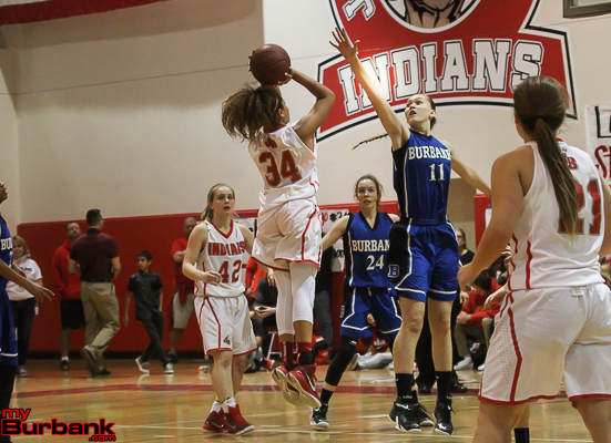 Sienna Brown scored eight points for JBHS (Photo by Ross A. Benson)