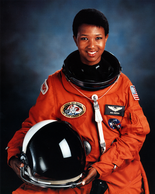 Dr. Mae Jemison, first African-American woman in space, served as Science Mission Specialist on the Endeavour in 1992. (Photo Courtesy of the National Aeronautics and Space Administration)