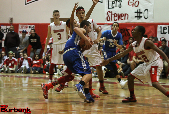 The Bulldogs had no room to operate against an aggressive Burroughs defense (Photo by Ross A. Benson)