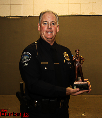 Burbank Police Officer of the Year Tim Dryness. (Photo by Ross A. Benson)