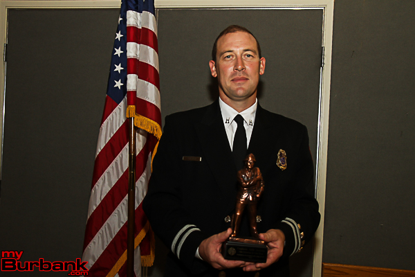 2015 Burbank Firefighter of the Year, Eric Jueden. (Photo by Ross A. Benson)