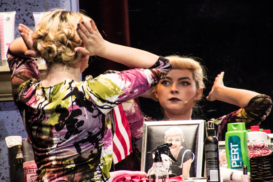"Junior Faydean Kielty wows as Paulette in ""Legally Blonde."" (Photo Courtesy of Kathy Flynn/Wicked Goddess Photography)"