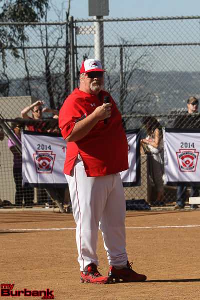 Motivational speaker of the day was Burroughs Boys Baseball Coach Craig Sherwood. ( Photo by Ross A. Benson)