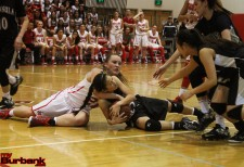 The Lady Indians scrapped and hustled their way to the semifinals (Photo by Ross A. Benson)