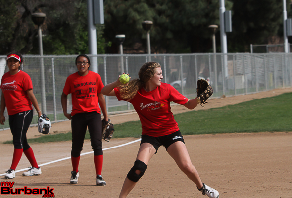 Burroughs softball (Photo by Ross A. Benson)