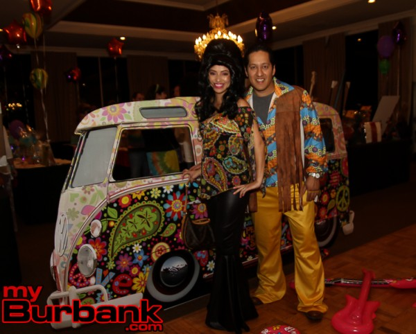 Designers of the flower bus were Nelly and Jose Ramirez. ( Photo by Ross A. Benson)