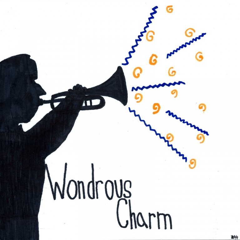 """""""Wondrous Charm,"""" written by Jordan Middle School students, with art by Jordan student Zachary Hagen-Smith, is available on iTunes now."""