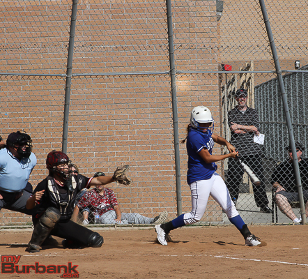 Burbank belted out 11 hits in the win (Photo by Ross A. Benson)
