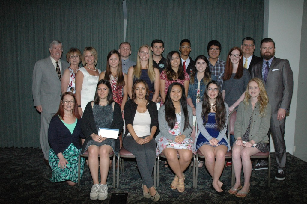 Burbank students received monetary awards from the Burbank Assn. of Realtors' Community Services Foundation at a recent breakfast. (Photos by Joyce Rudolph)