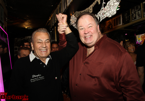 Owner Sal Ferraro with Actor Dennis Haskins former Mr. Belding from TV Sitcom Saved by the Bell. ( Photo by Ross A. Benson)