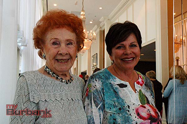 Grace Mylroie Patz, left, handled reservations while Charleen Greene sold opportunity tickets.