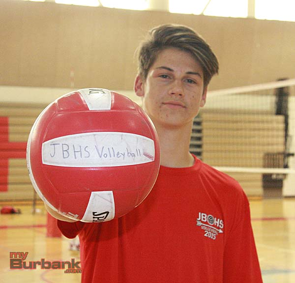 Volleyball has shot to the forefront in Max Chamberlain's life (Photo by Dick Dornan)