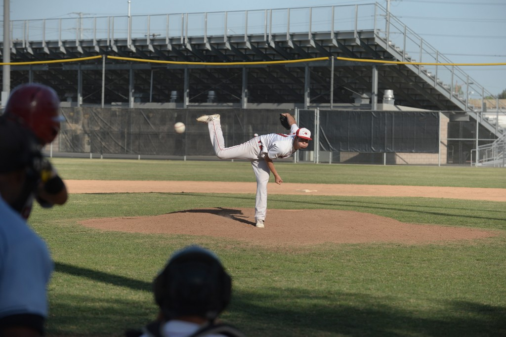 Danny Bustos (above) and fellow pitcher Thomas Wilson have been lights out this season (Photo courtesy of Mitch Haddad)