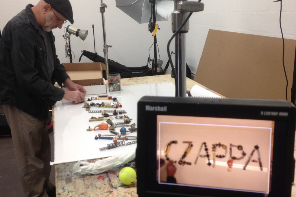 "Bill Czappa builds the title art for the short documentary ""Czappa."" (Photo Courtesy of Ric Serena)"