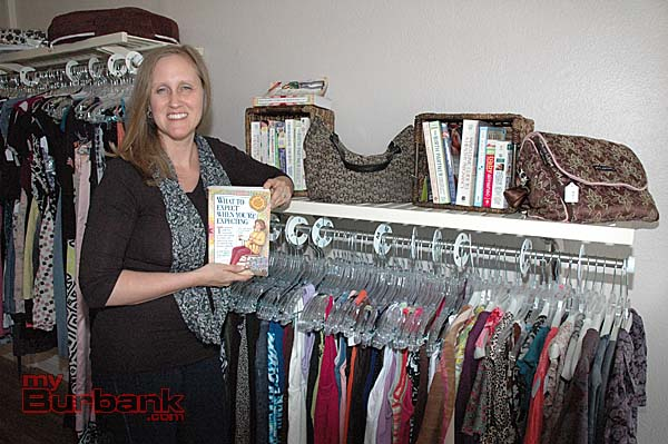 Instructional books are also available at the new maternity clothing resale shop.