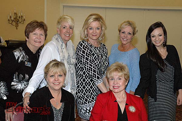 Models and friends of the Foothill Civitans, front row from left, Jill Benz and Jacquie Rudell; and back row from left, Linda Colley, Liz Kenney, mistress of ceremonies Janet Jordan, Susan Fekety and Andy Lopez.