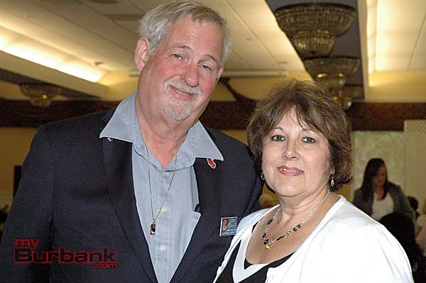 Larry Beaver, left, governor of the California District of Civitan International, with Sandie Shapiro, junior chair of the California District.