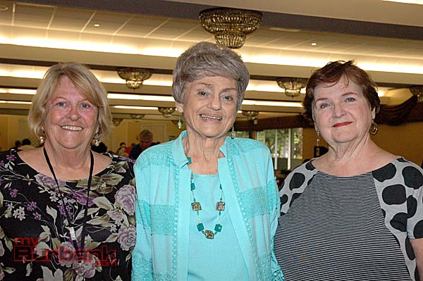 Foothill Civitan Club officials are, from left, fashion show luncheon co-chairwoman Mary Bernier, chairwoman Sandy Dennis and President Shirley Witt. (Photos by Joyce Rudolph)
