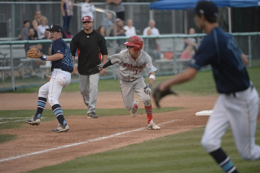 Anthony Bocanegra sprints home for the Indians' first run (Photo courtesy of Mitch Haddad)