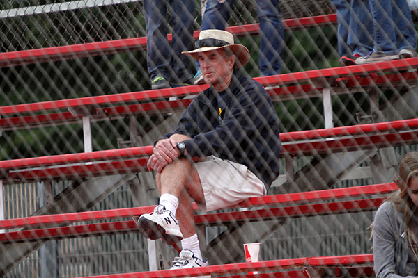 Legendary coach Scott Muckey watched the Indians survive and advance (Photo by Ross A. Benson)