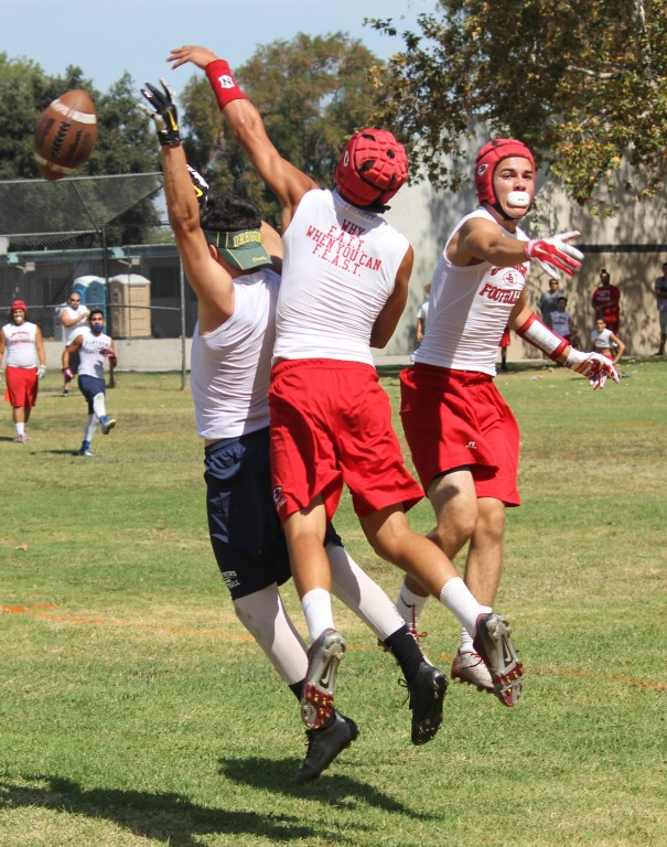 Nick Tipton breaks up a pass in summer action (Photo by Stephen Garden)