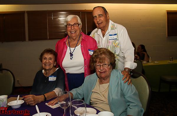 Long time members Arlene Hammer, Phylis Grossmark, Mark Brownstein and Lois Bennett. (Photo by © Ross A. Benson)