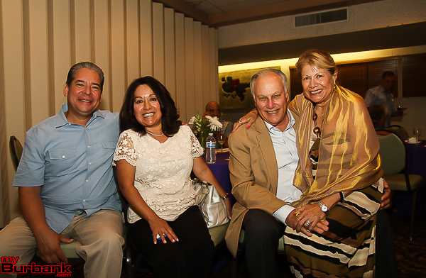 Mayor Bob Frutos with wife Laura and Nat Rubinfeld with wife Alma. (Photo by © Ross A. Benson)