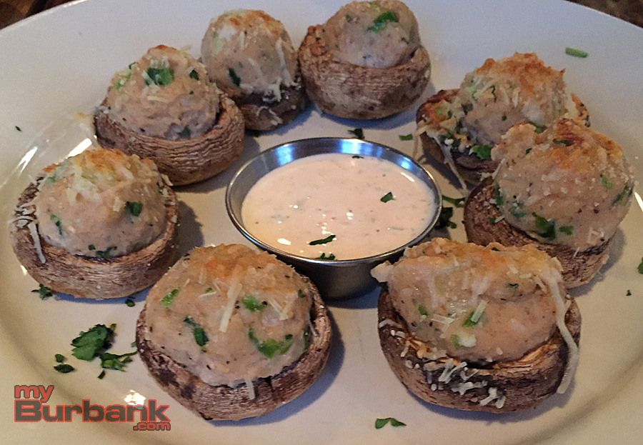 The Hangar Grille's Crab Stuffed Mushrooms. (Photo By Lisa Paredes)