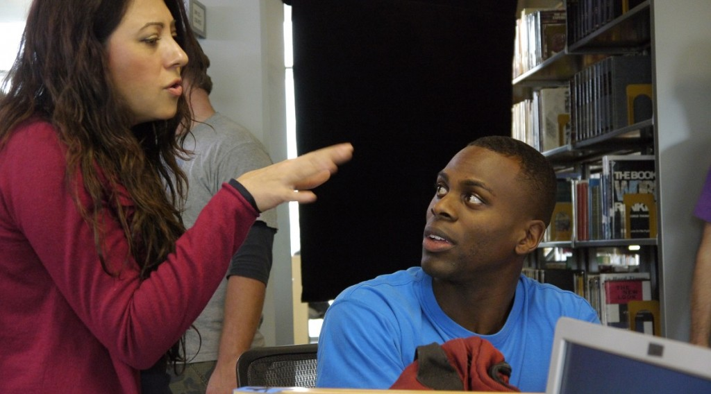 "Roya Aryanpad directs actor Nicholas Alexander in ""Jacob Stone."" (Photo Courtesy of Dream Benders Productions)"