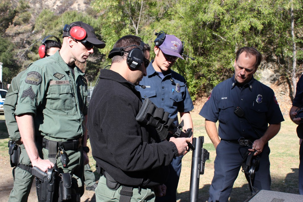 Burbank Firefighters train Burbank Police SWAT Officers share training time (Photo Courtesy Adam Cornils)