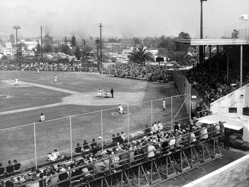 Olive baseball field