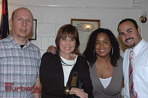 Attending the fundraiser for the Veterans Housing Program are, from left, architect Gianni Zatta, Judith Arandes, executive director of the Burbank Housing Corp., Leadership Burbank Alumni President Renee Johnson and Juan Guillen, former board member of Leadership Burbank. (Photo by Joyce Rudolph)