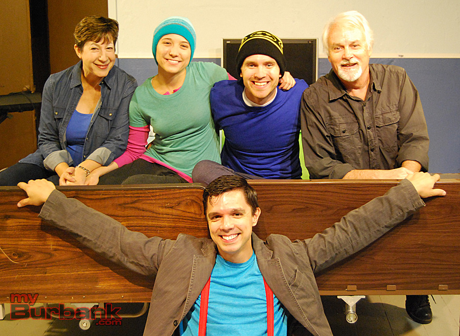 """Dani Girl"" (from left to right) Front row: Matt Severyn. Back row: Lisa Dyson, Maryanne Burr, Jacob Krech, Michael Shaughnessy. (Photo By Lisa Paredes)"