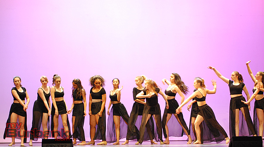 JBHS Dance Production students perform a lyrical piece choreographed by Lauren Butler, . (Photo By Lisa Paredes)