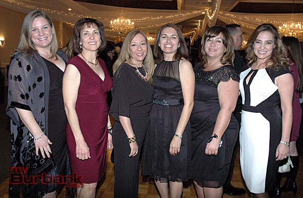 Charity League president-elect Shaunna Larson Raab, from left, with Kim Kaufman, Ruth Martinez-Baenen, Olivia Boyce, Char Tabet and Gema Sanchez. (Photos by Joyce Rudolph)