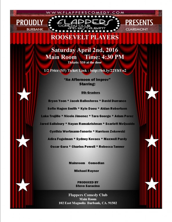 FLAPPERS FLYER ROOSEVELT SHOW APRIL 2 2016 three