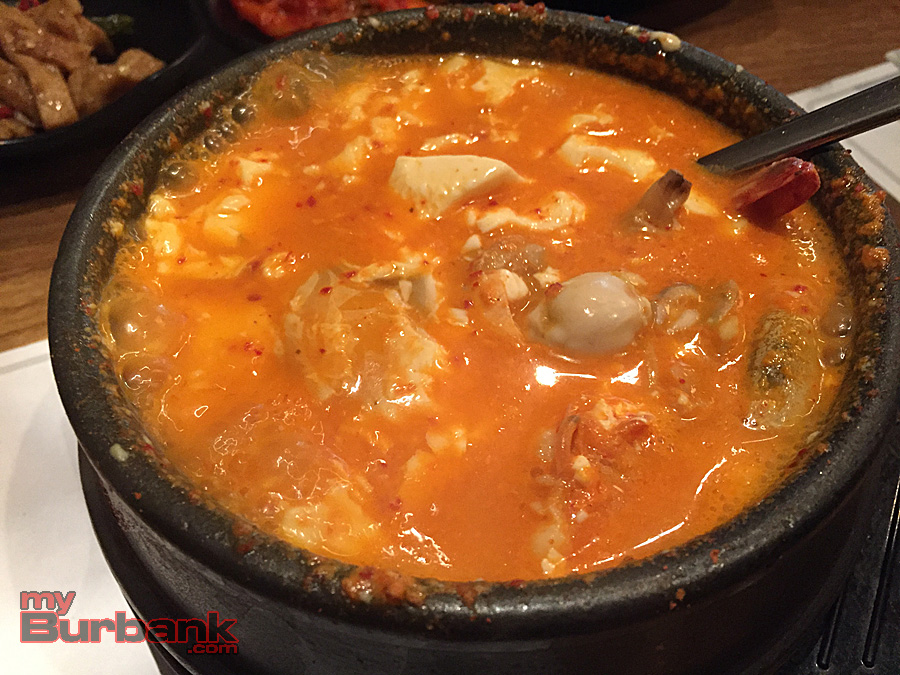 Medium spicy seafood tofu soup. (Photo By Lisa Paredes)