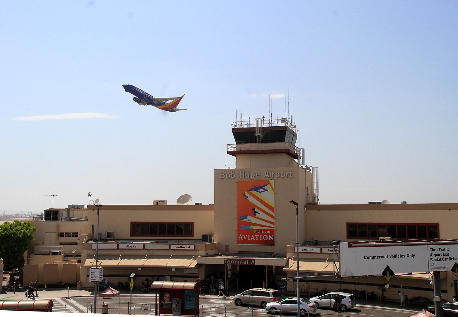 Bob Hope Airport Banner & Display /Photo by Ross A. Benson