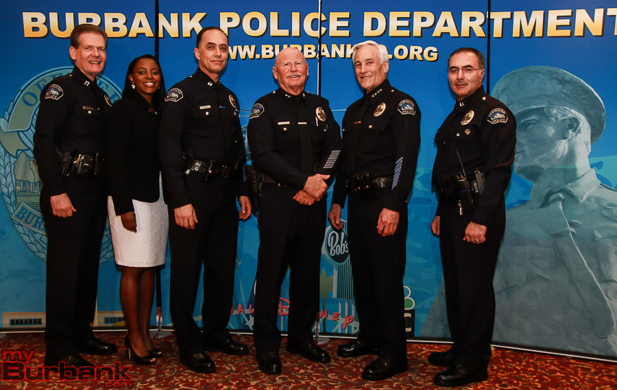 Burbank Police Command Staff (Photo by © Ross A. Benson)
