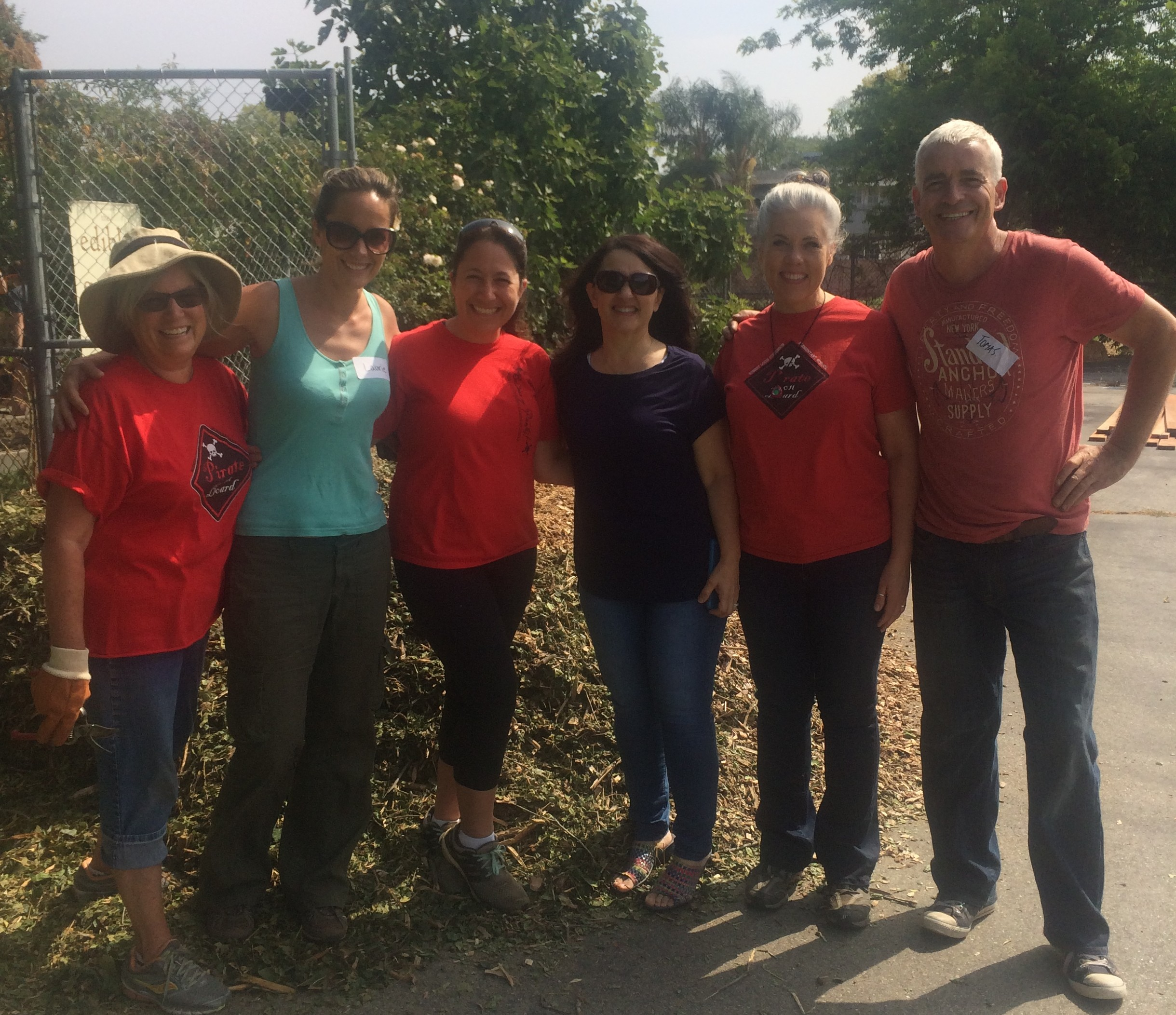 Also on hand were (L to R) Rayna Boehme, Laurie Okin, Charlene Ishkhanian, Christina Desiderio (Principal, Robert Louis Stevenson Elementary), Sue Zimmermann, and Tomas O'Grady (Executive Director, EnrichLA)